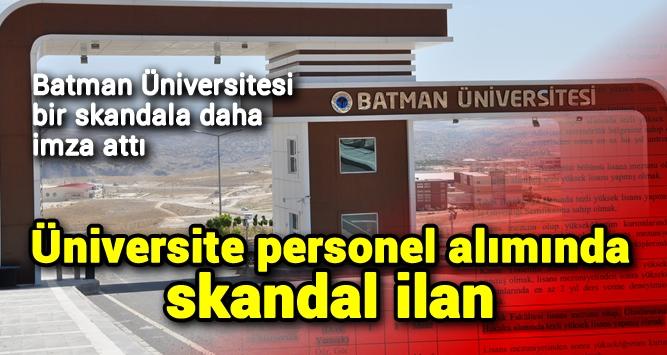 batman universitesi bir skandala daha imza atti batman yon gazetesi